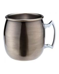 Antique Brass Curved Moscow Mule 500ml