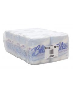 120 Rolls Bliss 2 PLY Luxury Quilted Soft Bathroom Toilet Tissue 20m Per Roll