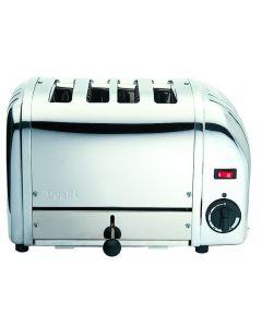 Dualit Classic 4 Slot Polished Steel Bun Toaster