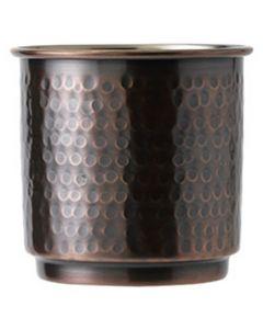 Antique Copper Hammered Tumbler 10.5oz