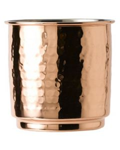 Hammered Copper Tumbler With Nickel Lining 10.5oz