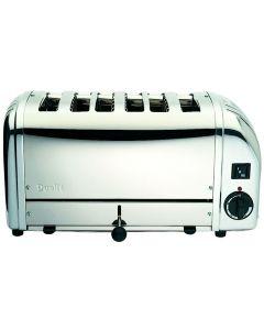 Dualit Classic 6 Slot Polished Steel Bun Toaster