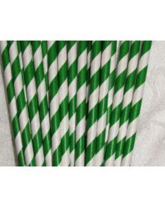 "7.75"" Green Paper Straws"