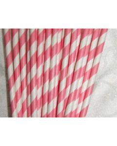 7.75 Pink Paper Straws
