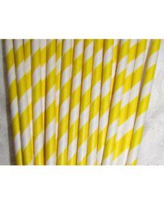 7.75 Yellow Paper Straws