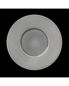 "Steelite Willow Gourmet Plate Medium Well 11.25"" Mist"