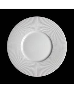 "Steelite Willow Gourmet Plate Medium Well 11.25"" White"