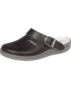 Black Abeba Leather Clogs