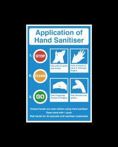 Application of Hand Sanitiser Vinyl Sticker