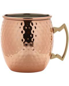 Barrel Copper Mug Hammered 19.25oz