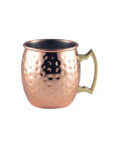 Copper Hammered Barrel Mug 14oz