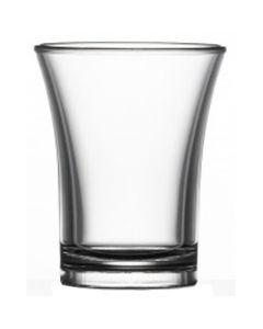 Clear Polystyrene Shot Glass 25ml