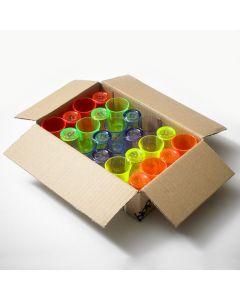 Mixed Colour Polystyrene Shot Glass 25ml