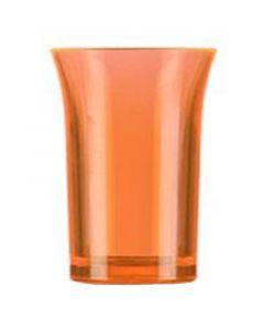 Orange Polystyrene Shot Glass 25ml