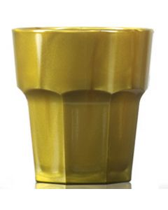 Elite Remedy Polycarbonate Rocks Glass 9oz Gold