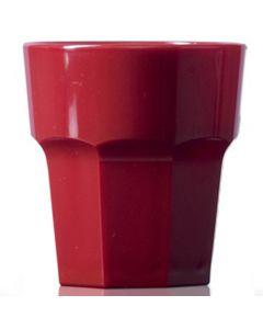 Elite Remedy Polycarbonate Rocks Glass 9oz Red