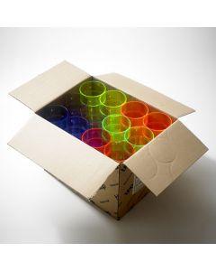 Mixed Coloured Polystyrene Hi-Ball Glass 10oz CE