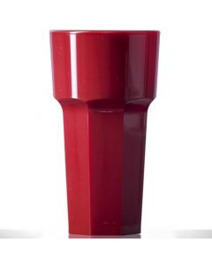 Elite Remedy Polycarbonate Tall Glass 12oz Red