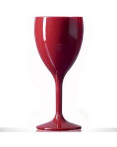 Premium Polycarbonate Wine Glass 11oz Red