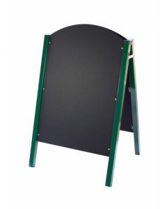 Green Metal Sided A-Board