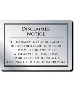 Cloakroom Disclaimer