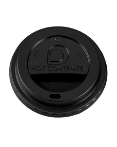 Black Domed Sip-Thru Lid - 10-20oz Cup