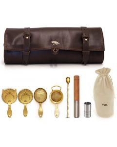 Bonzer Heritage Leather Roll Kit Gold Plated
