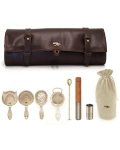 Bonzer Heritage Leather Roll Kit EPNS (Silver Plated)