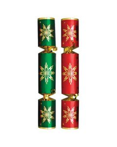 """12"""" Red & Green Star Crackers"""