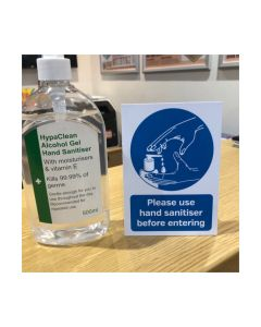 Please Use Hand Sanitiser Before Entering Countertop Freestanding Notice