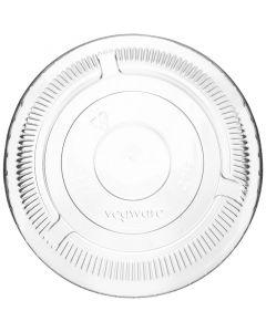 Vegware Compostable PLA Flat Lid 96mm, No Hole (Fits Standard Cold Cups)