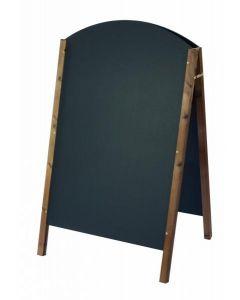 Curved Top Oak A-Frame Blackboard 140cm