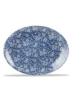 """Prague Victorian Calico Oval Plate 12"""""""