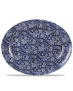"""Willow Victorian Calico Oval Dish 14.3"""""""