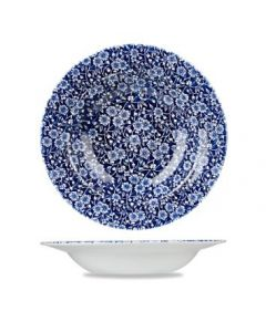 Willow Victorian Calico Rimmed Bowl 17oz