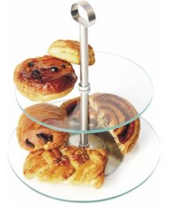 Glass Tiered Cake Stand