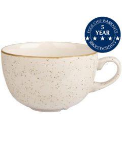 Churchill Stonecast Cappuccino Cup 17.5oz Barley White