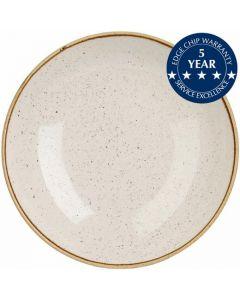 "Churchill Stonecast Coupe Bowl 7.25"" Barley White"