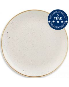 """Churchill Stonecast Coupe Plate 8.6"""" Barley White"""