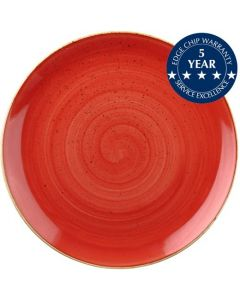 """Churchill Stonecast Coupe Plate 11.25"""" Berry Red"""