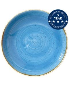 "Churchill Stonecast Coupe Bowl 12"" Cornflower Blue"
