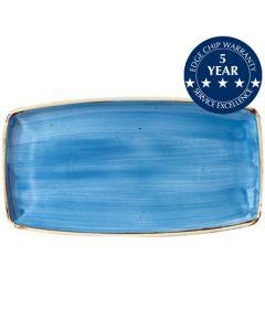 "Churchill Stonecast Oblong Plate 14"" Cornflower Blue"