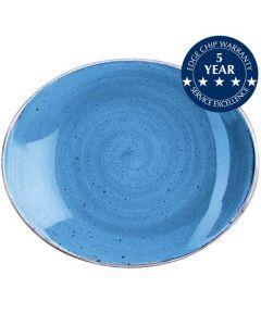 "Churchill Stonecast Oval Plate 7.75"" Cornflower Blue"