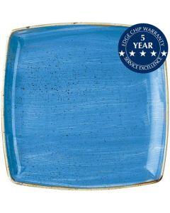 "Churchill Stonecast Deep Square Plate 10.5"" Cornflower Blue"