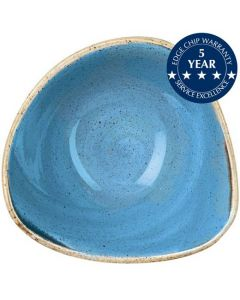 "Churchill Stonecast Triangle Bowl 7.25"" Cornflower Blue"