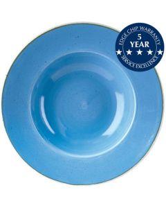 "Churchill Stonecast Wide Rim Bowl 9.5"" Cornflower Blue"