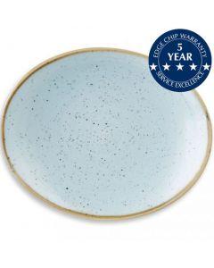 "Churchill Stonecast Oval Plate 7.75"" Duck Egg Blue"