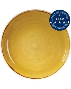 """Churchill Stonecast Coupe Bowl 9.75"""" Mustard Seed Yellow"""