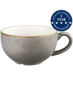 Churchill Stonecast Cappuccino Cup 12oz Peppercorn Grey