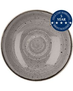 """Churchill Stonecast Large Coupe Bowl 12"""" Peppercorn Grey"""